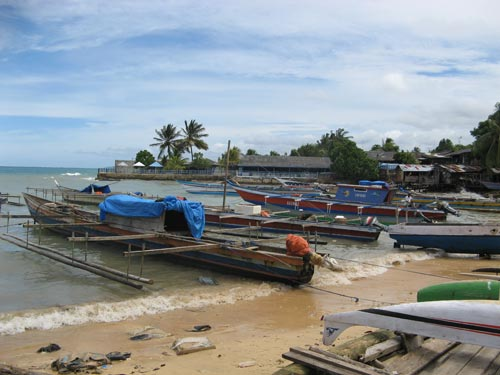 Fishing village. Island of Biak