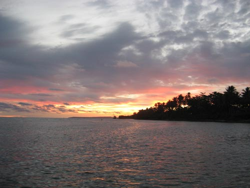 Sunset on the Island of Biak