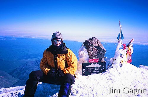 Jim Gagne on the Summit of Mount Elbrus