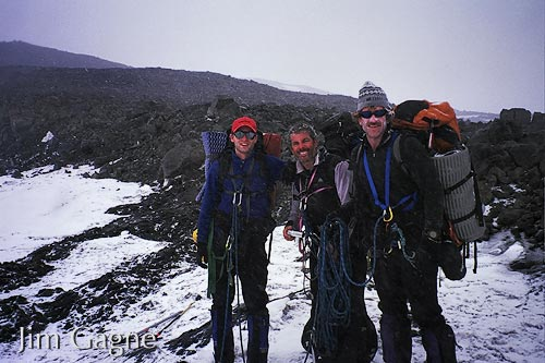 Don Tacewicz, Curtis Cote and Jim Gagne near camp 3