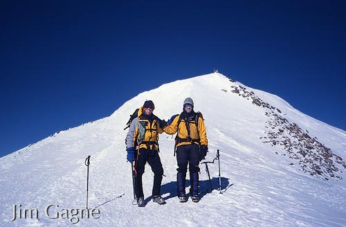 Dan Barter and Jim Gagne  near the summit of Elbrus
