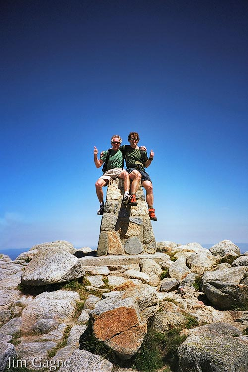 Dan Barter and Jim Gagne on the summit of Mount Kosciuszko