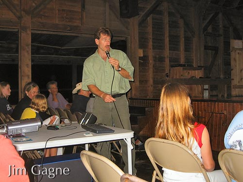 Jim presenting at Rockywold camp