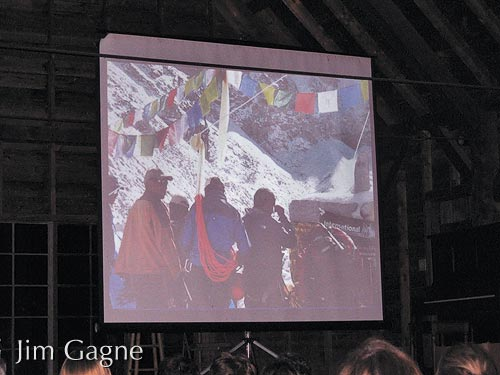 Slide show at Rockywold camp