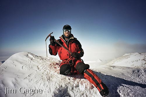 Jim Gagne on the summit of Mount Vinson